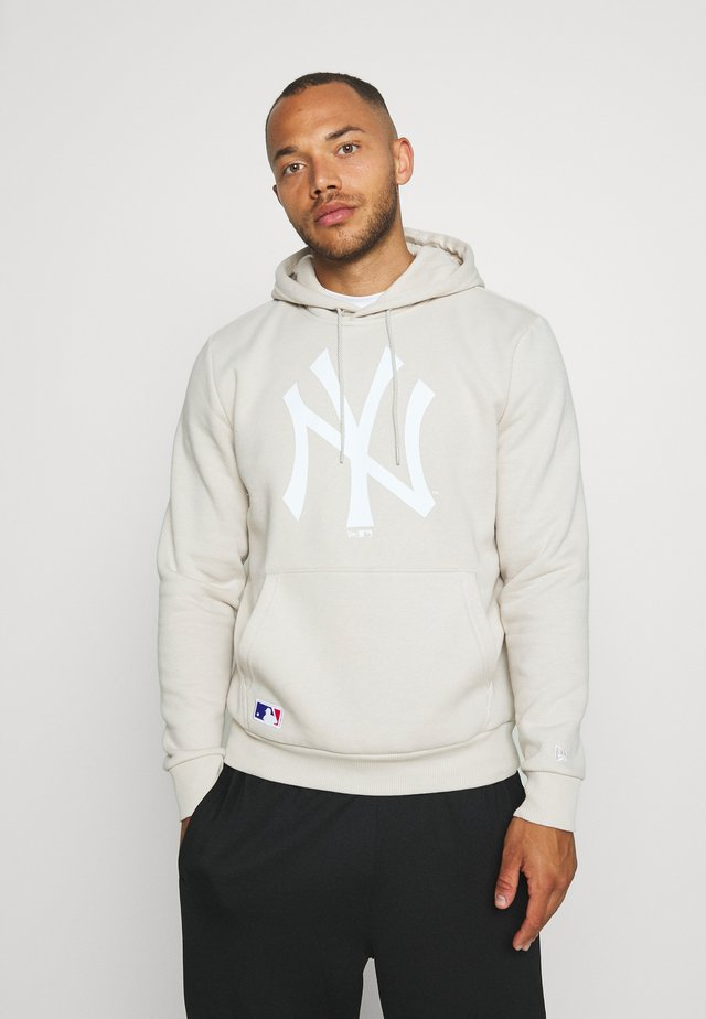 MLB SEASONAL TEAM LOGO HOODY NEW YORK YANKEES - Bluza z kapturem - light grey
