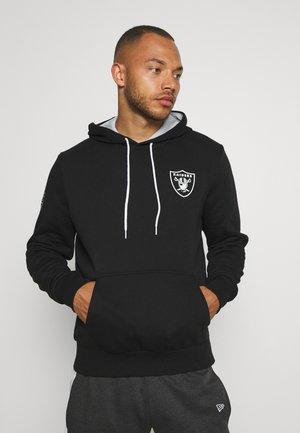 NFL CHEST PRINT TEAM LOGO HOODY OAKLAND RAIDERS - Klubtrøjer - black