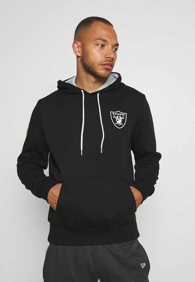 NFL CHEST PRINT TEAM LOGO HOODY OAKLAND RAIDERS - Artykuły klubowe - black