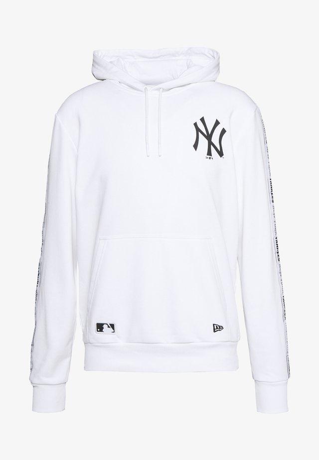 MLB TAPING HOODY NEW YORK YANKEES - Vereinsmannschaften - white