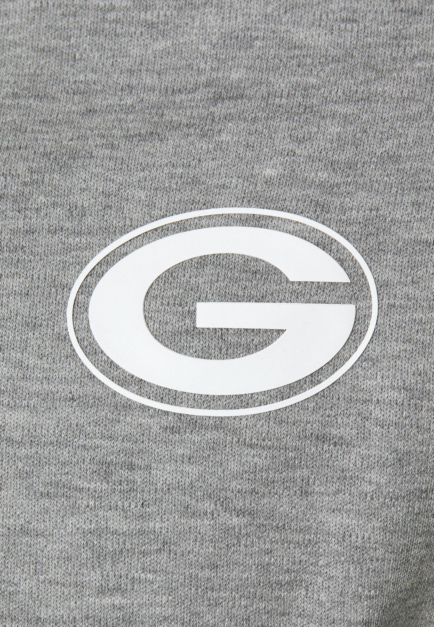 New Era Nfl Colour Block Hoody Green Bay Packers - Club Wear Grey