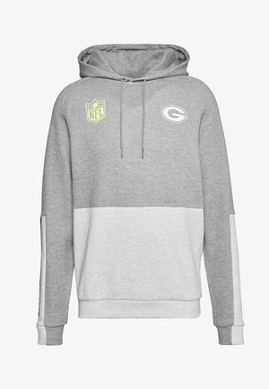 NFL COLOUR BLOCK HOODY GREEN BAY PACKERS - Club wear - grey