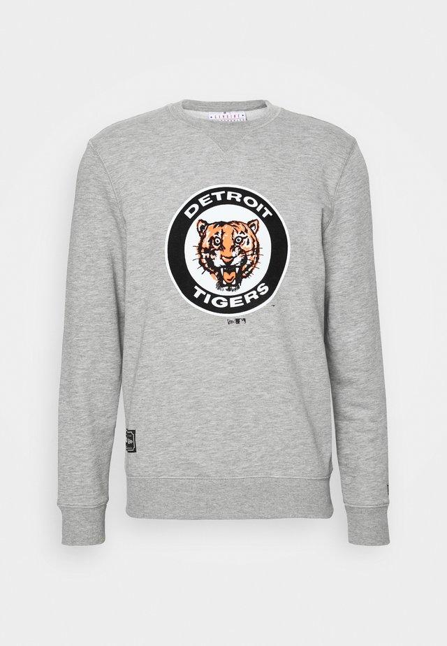 MLB DETROIT TIGERSCOOPERSTOWN CREW - Club wear - grey