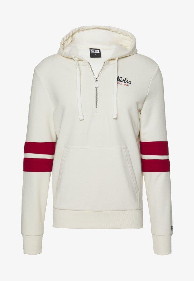 NEW ERA NEW ERAHERITAGE HALF ZIP HOODIE - Jersey con capucha - white