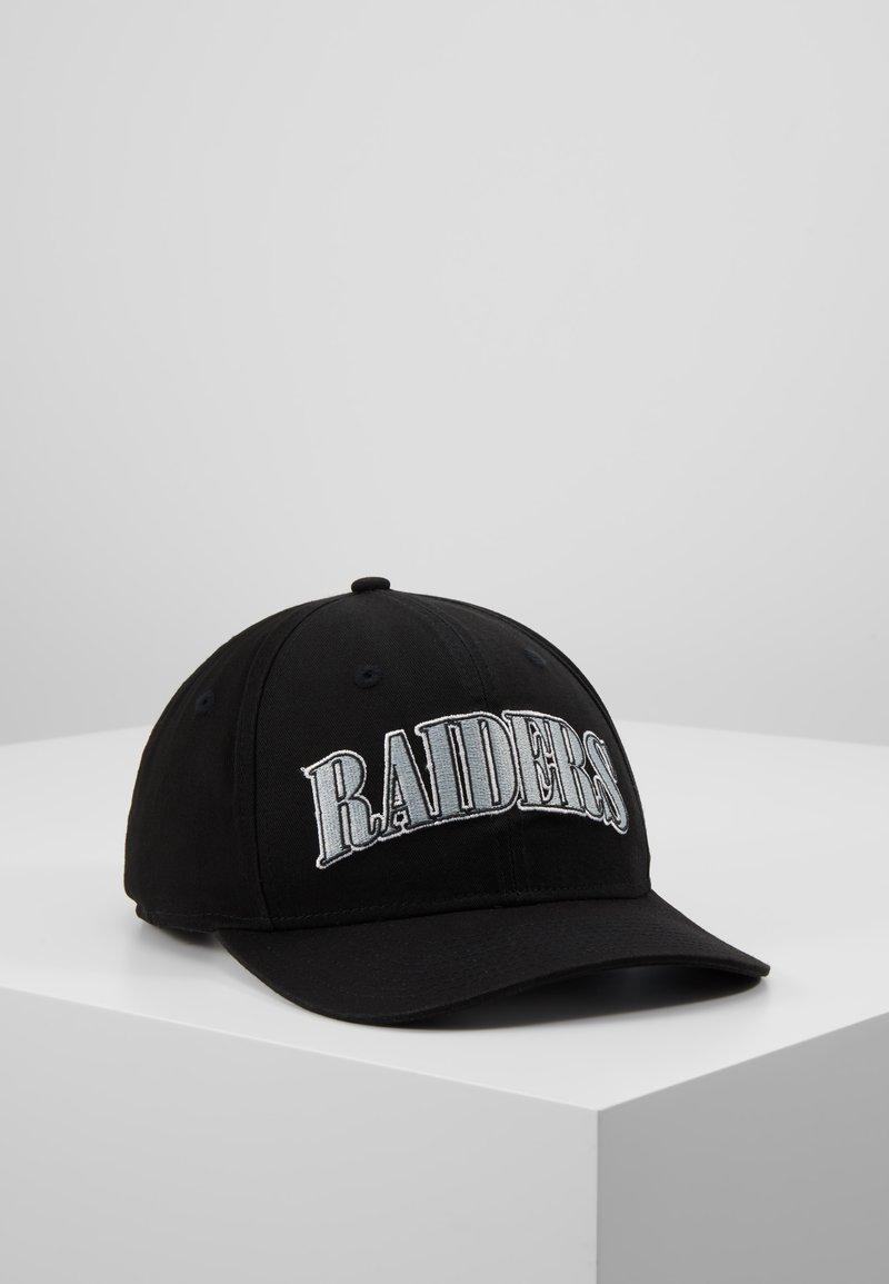 New Era - NFL OAKLAND RAIDERS PRECURVED - Kšiltovka - black