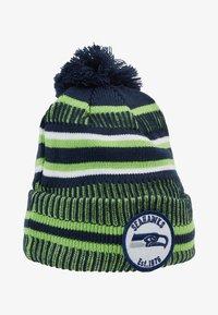 New Era - NFL SEATTLE SEAHAWKS ON FIELD COLD WEATHER BEANIE - Mössa - blue/green - 1