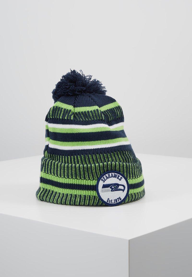 New Era - NFL SEATTLE SEAHAWKS ON FIELD COLD WEATHER BEANIE - Mössa - blue/green