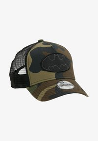 New Era - TRUCKER BATMAN - Lippalakki - dark green - 1