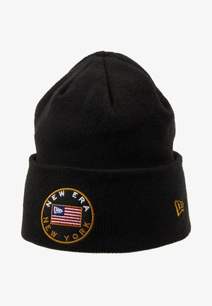 FLAGGED CUFF - Beanie - black