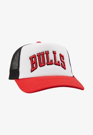 NBA TEAM TRUCKER COLOUR BLOCK - Kšiltovka - white/red