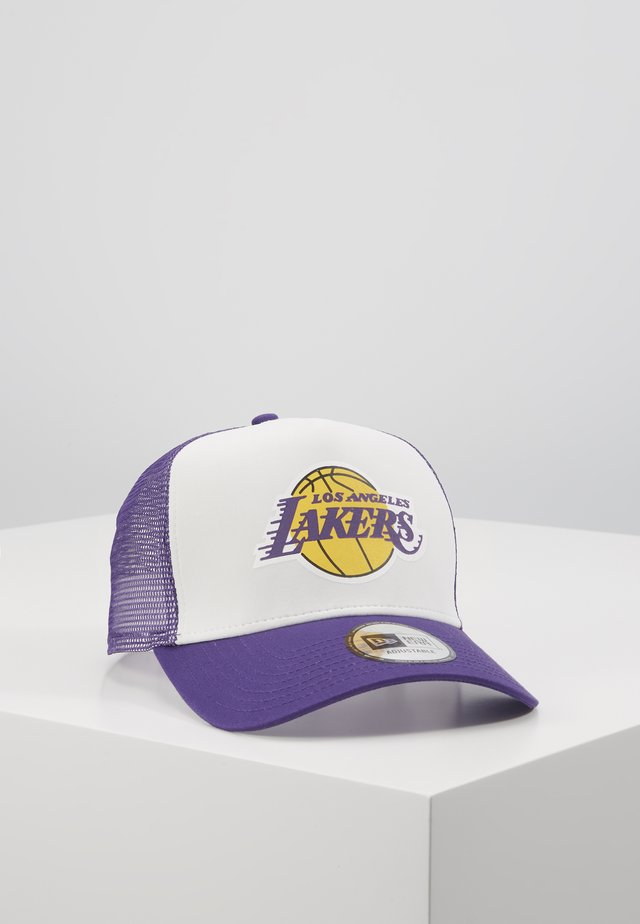 TEAM COLOUR BLOCK TRUCKER - Cap - purple/white