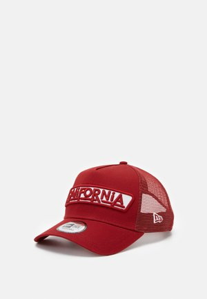 USA PATCH TRUCKER - Cap - dark red