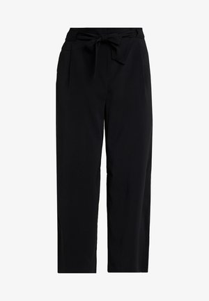 EMERALD TIE WAIST - Trousers - black