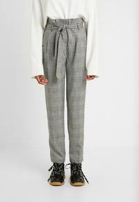New Look Tall - POW CHECK TROUSER - Trousers - black - 0