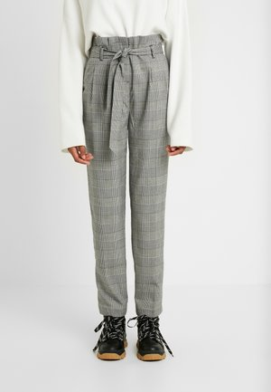 POW CHECK TROUSER - Kangashousut - black