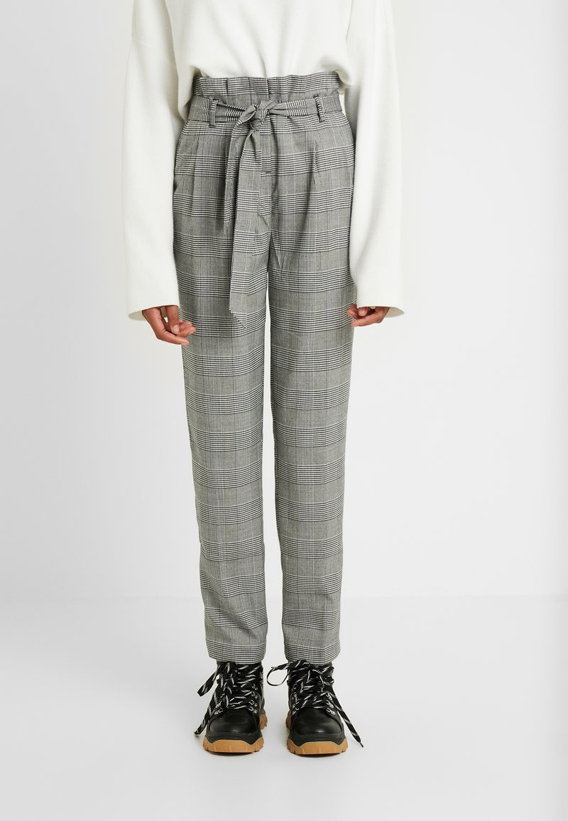 New Look Tall - POW CHECK TROUSER - Trousers - black