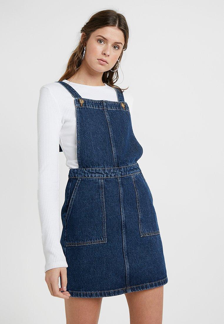 New Look Tall - TWINNINGS BUTTON PINNY - Jeanskjole / cowboykjoler - mid blue