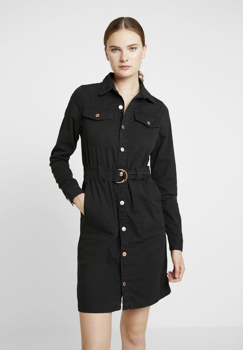 New Look Tall - CALLY  - Denim dress - black