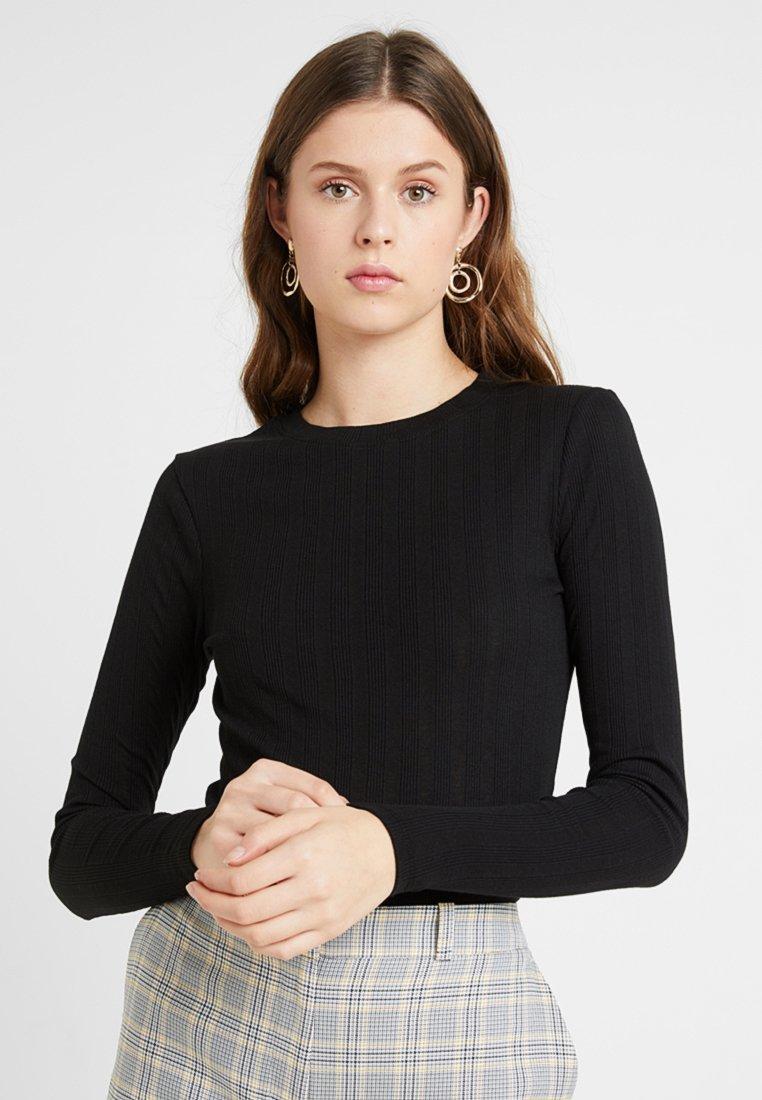 New Look Tall - VERONICA CREW 2 PACK - Camiseta de manga larga - black