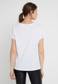 New Look Tall - 2 PACK SLUB POCKET TEE - Basic T-shirt - black/white - 3