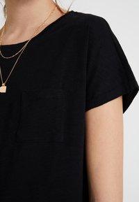 New Look Tall - 2 PACK SLUB POCKET TEE - Basic T-shirt - black/white - 5