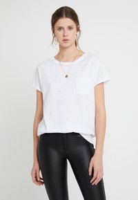 New Look Tall - 2 PACK SLUB POCKET TEE - Basic T-shirt - black/white - 2