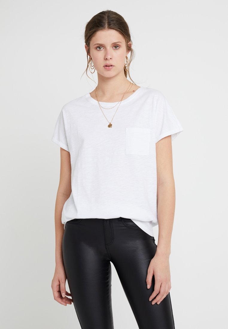 New Look Tall - 2 PACK SLUB POCKET TEE - Basic T-shirt - black/white
