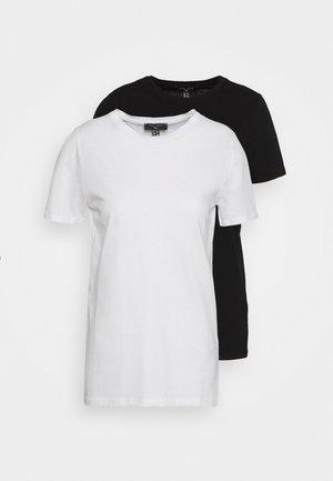 ORGANIC TEE 2 PACK - Basic T-shirt - black/white