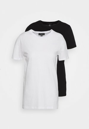 ORGANIC TEE 2 PACK - Basic T-shirt - black/white