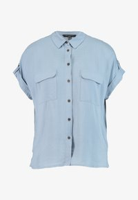 New Look Tall - JEFF PATCH SLUB - Button-down blouse - blue - 4