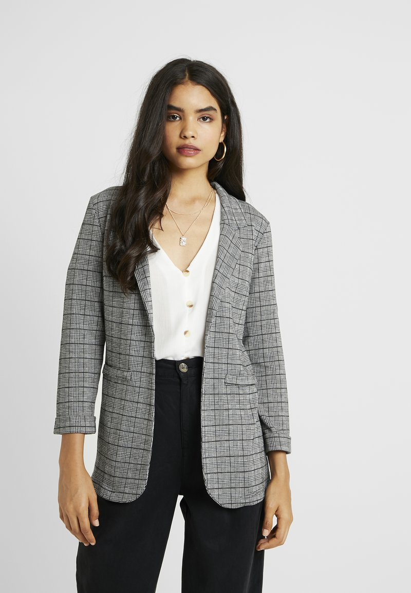 New Look Tall - CHECK - Blazer - grey