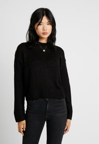 New Look Tall - LEAD IN JUMPER - Strikpullover /Striktrøjer - black - 0