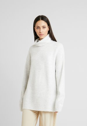 SLOUCHY ROLL NECK - Pullover - light grey