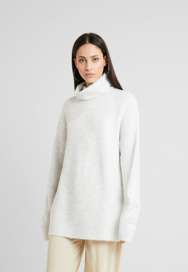 SLOUCHY ROLL NECK - Trui - light grey