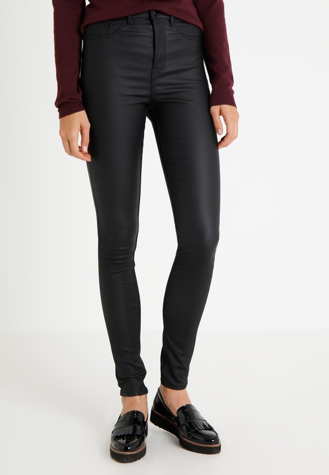 WHITNEY COATED DISCO - Broek - black