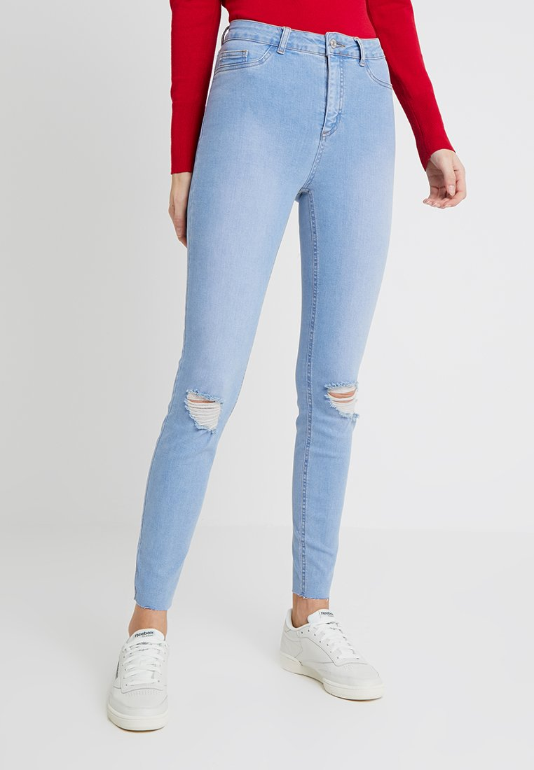 New Look Tall - BRIGHT RIP DISCO - Jeans Skinny Fit - blue