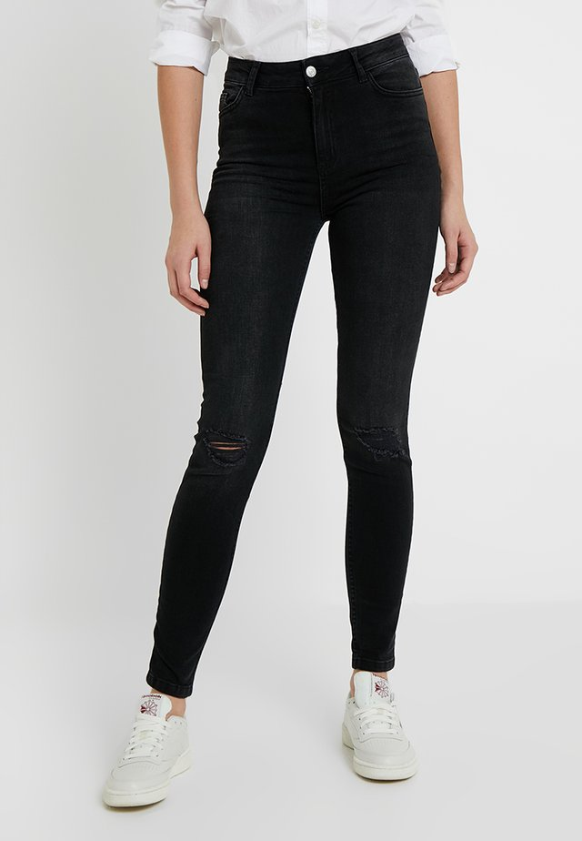 STRATFORD SLASH DISCO NAME RIP BLACK HALLIE - Jeans Skinny Fit - black