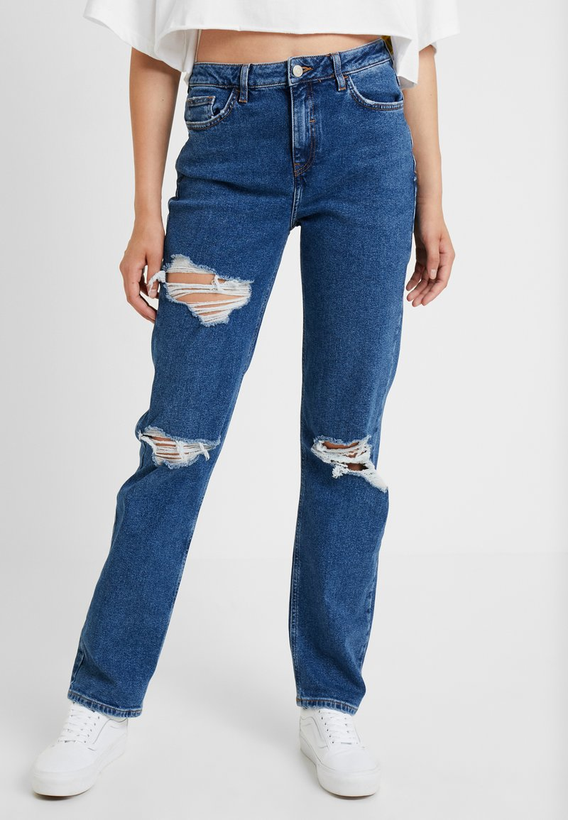 New Look Tall - RIPPED CHICAGO MOM - Relaxed fit jeans - blue