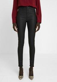 New Look Tall - COATED HALLIE DISCO - Stoffhose - black - 0