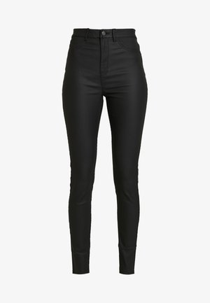 COATED HALLIE DISCO - Trousers - black