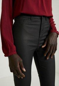 New Look Tall - COATED HALLIE DISCO - Stoffhose - black - 4
