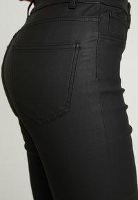 New Look Tall - COATED HALLIE DISCO - Stoffhose - black - 6