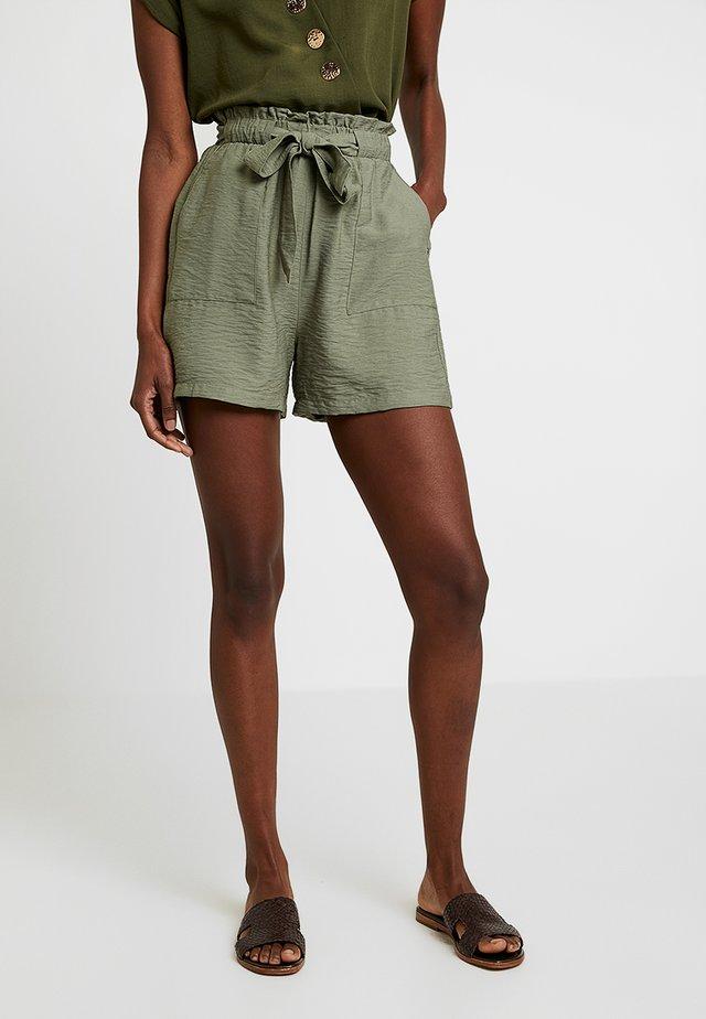 JANE PAPER BAG - Shorts - khaki