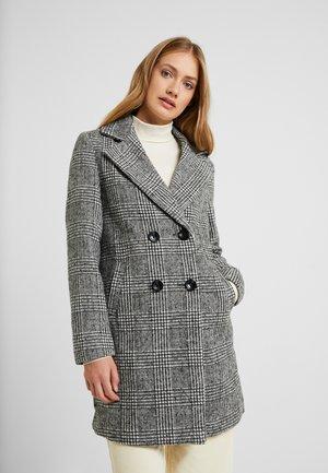 WHITNEY CHECK COAT - Classic coat - black