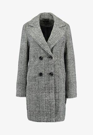 WHITNEY CHECK COAT - Zimní kabát - black