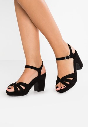 WIDE FIT TALENT - Sandály na vysokém podpatku - black