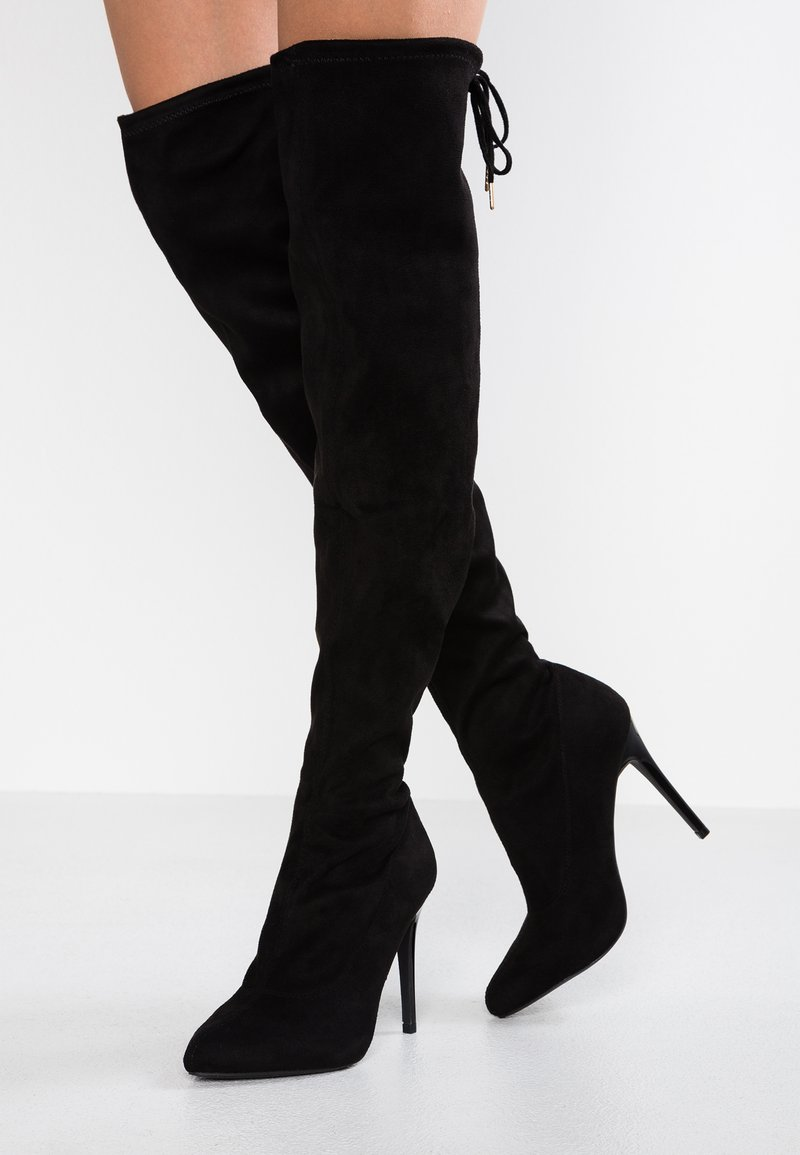 New Look Wide Fit - WIDE FIT ALMOND - High Heel Stiefel - black