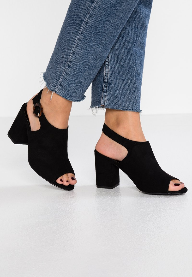 New Look Wide Fit - WIDE FIT ZIVAMP - Sandals - black