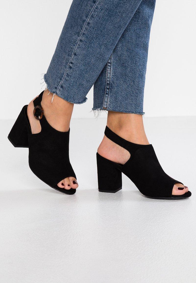 New Look Wide Fit - WIDE FIT ZIVAMP - Sandales - black