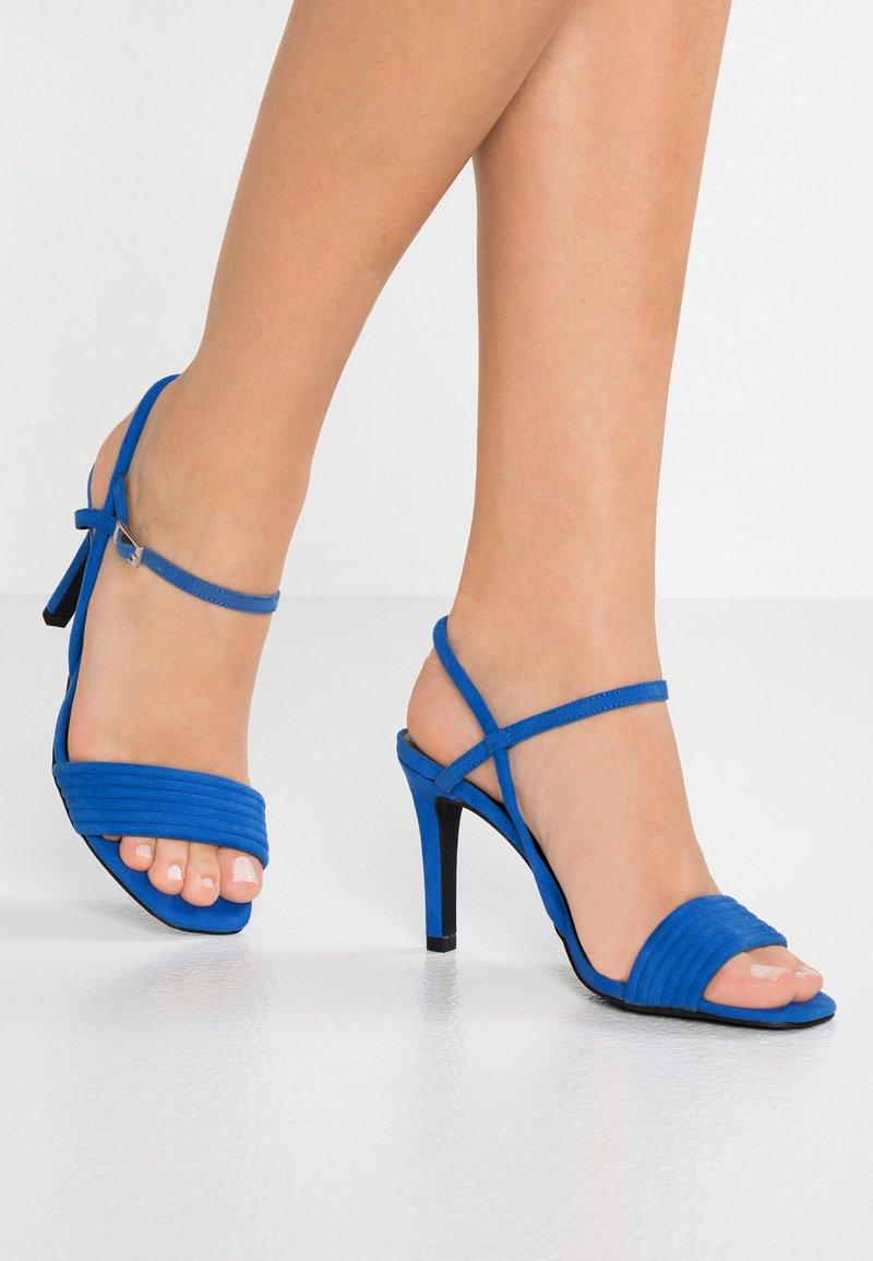 New Look Wide Fit - WIDE FIT TUBEY - Højhælede sandaletter / Højhælede sandaler - blue